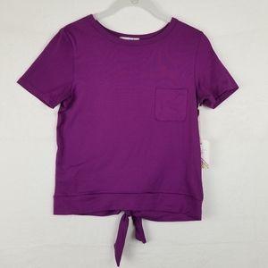 GLITZ Super Soft Top Blouse Purple, Size M NWT